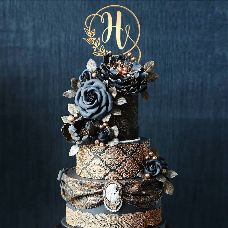 Customised Monogram Cake Topper - Letter H  Letter Cake Topper  - GlobalWedding