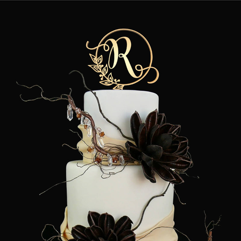 Customised Monogram Cake Topper - Letter R  Letter Cake Topper  - GlobalWedding