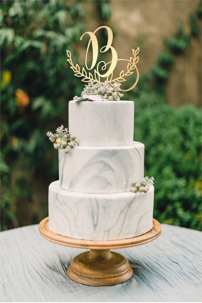 Cake Topper - Letter B - Customised Monogram Wedding Cake Topper  Letter Cake Topper  - GlobalWedding