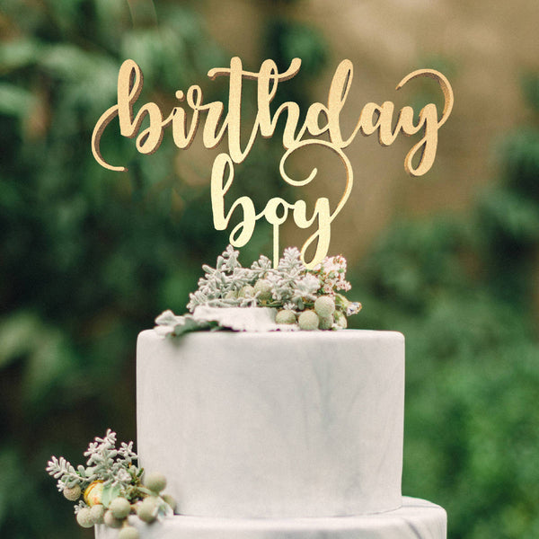 Boy Birthday Cake Topper  Monogram Cake Topper  - GlobalWedding