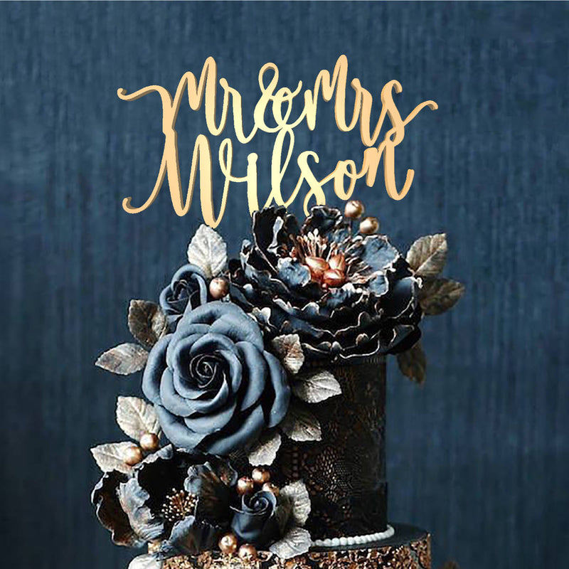 Mr and Mrs Personalized Handmade Decoration Cake Topper