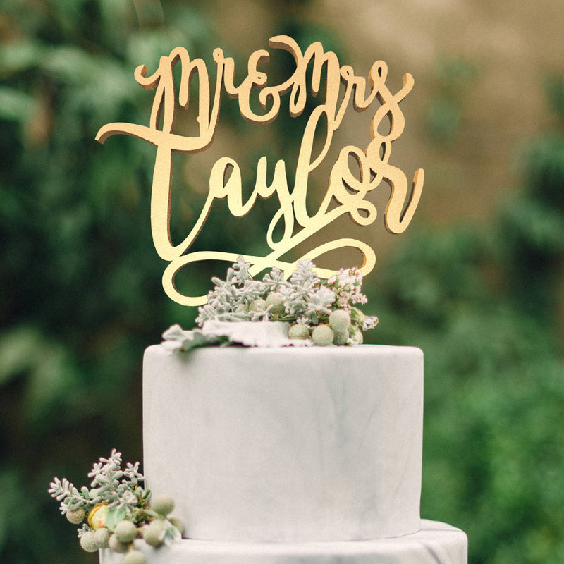 Customized Wedding Cake Topper, Personalized Cake Topper for Wedding, Custom Wedding Cake Topper, Mr and Mrs Cake Topper  Personalised Cake Topper  - MatchMadeAbroad