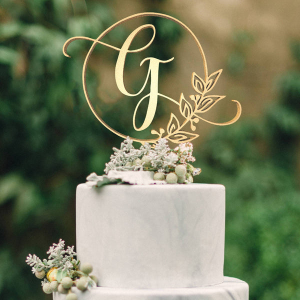 Customised Monogram Cake Topper - Letter G  Letter Cake Topper  - GlobalWedding