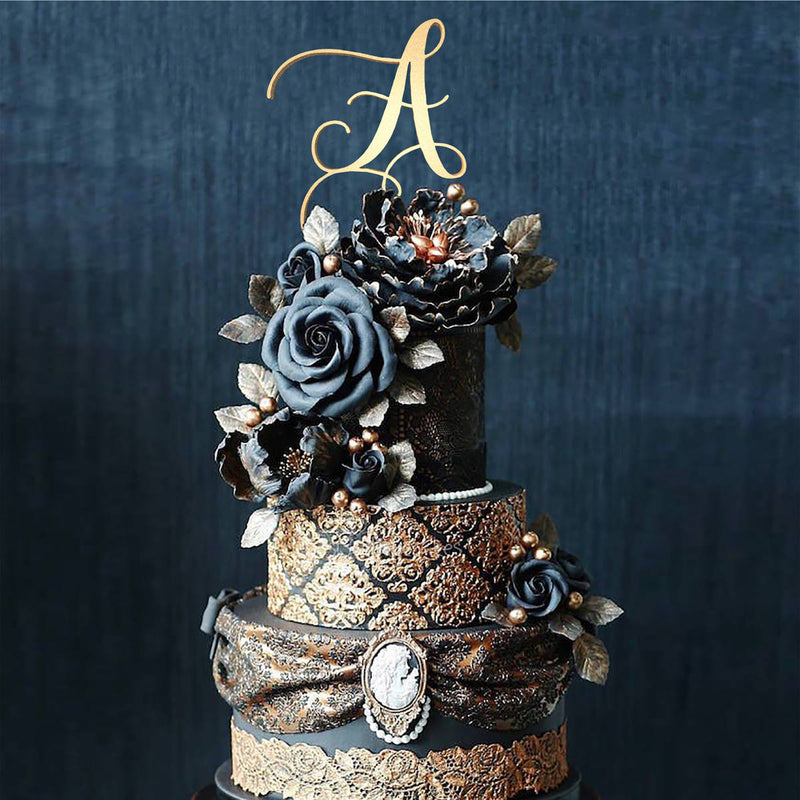 Personalised Monogram Cake Topper - Letter A