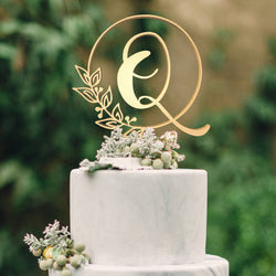 Customised Monogram Cake Topper - Letter Q  Letter Cake Topper  - GlobalWedding