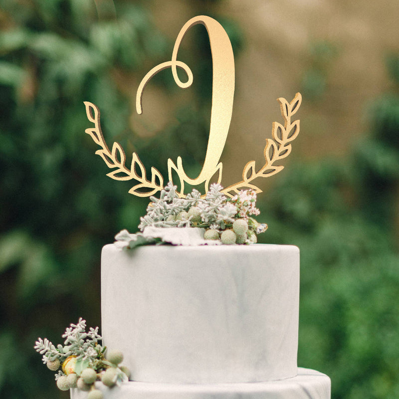 Personalised Monogram Cake Topper - Letter I