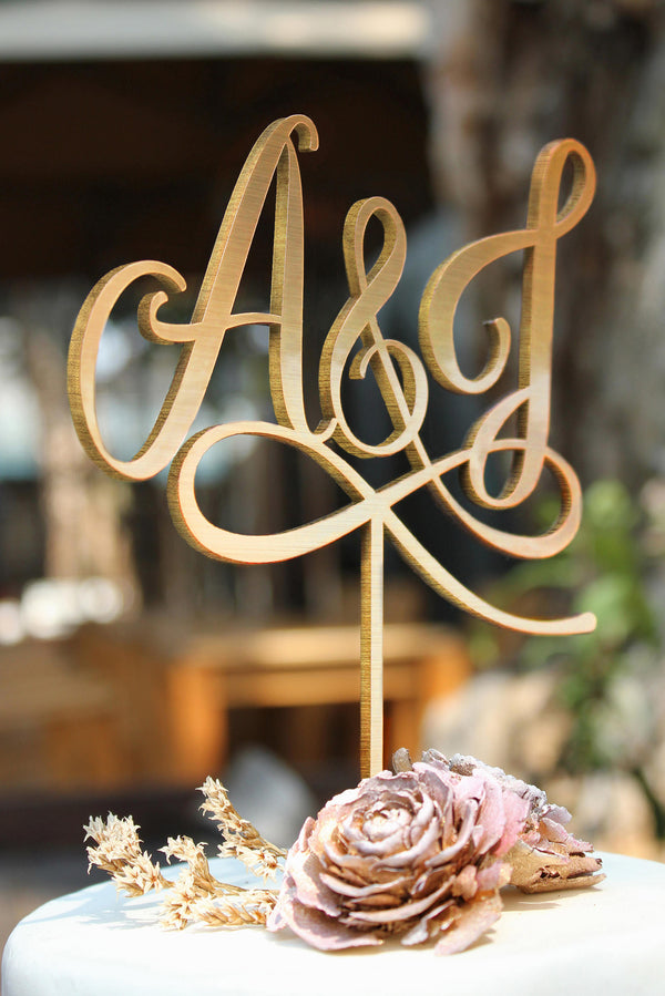 2 Letters Cake Topper