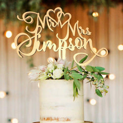 Personalised Cake Topper - Customized Wedding Cake Topper, Mr & Mrs Simpson