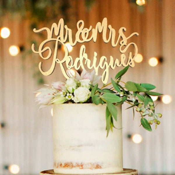 Customised Wedding Cake Topper Rodrigues  Personalised Cake Topper  - MatchMadeAbroad