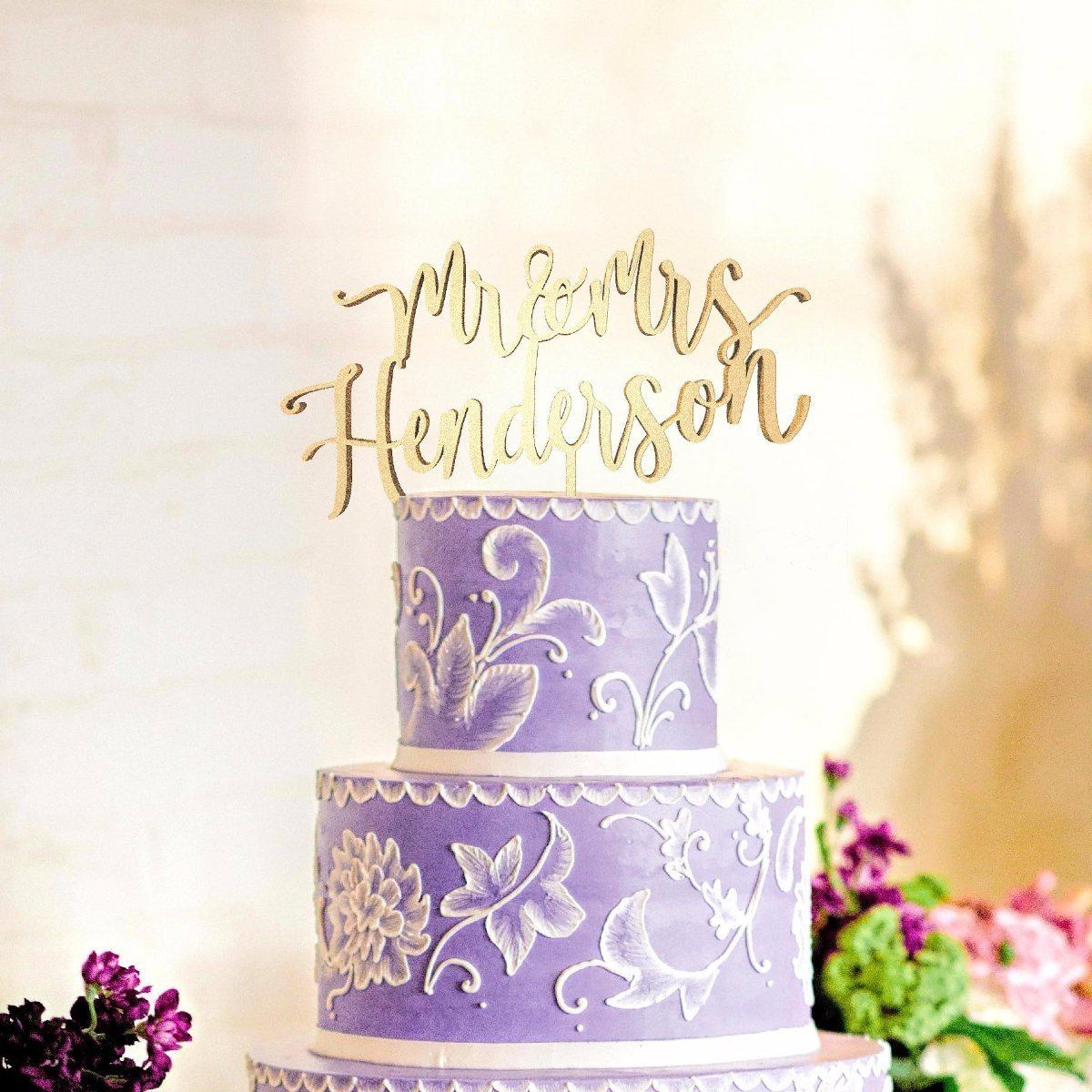 Personalised wedding cake topper mr and mrs henderson globalwedding personalised wedding cake topper mr and mrs henderson junglespirit Choice Image