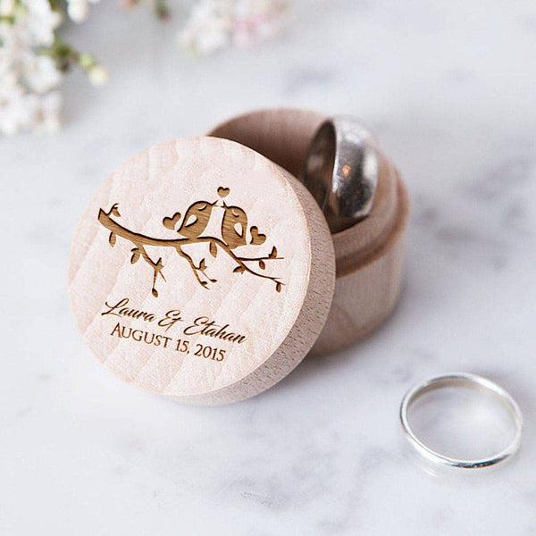 Custom Ring Box - Birds Design  Ring Box  - MatchMadeAbroad
