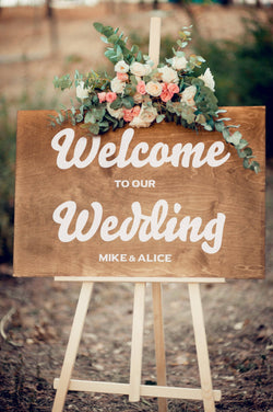 Horizontal Welcome Wedding Sign  Welcome Sign  - GlobalWedding