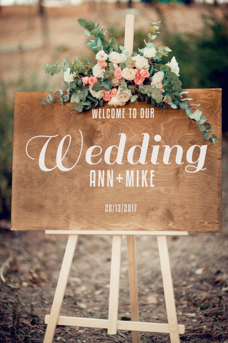 Custom Welcome Wedding Sign  Welcome Sign  - GlobalWedding