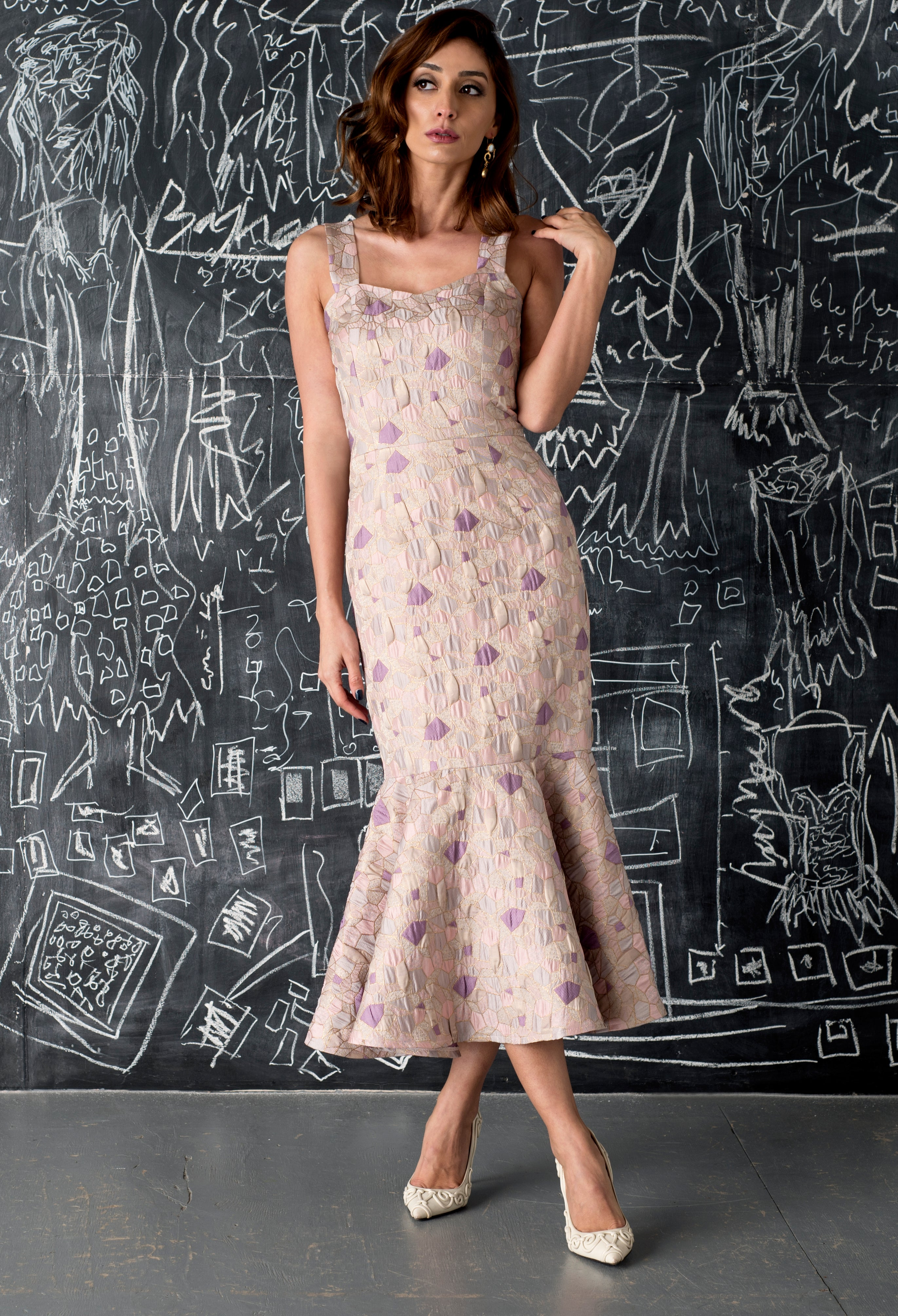 Florence Mosaic Brocade Dress