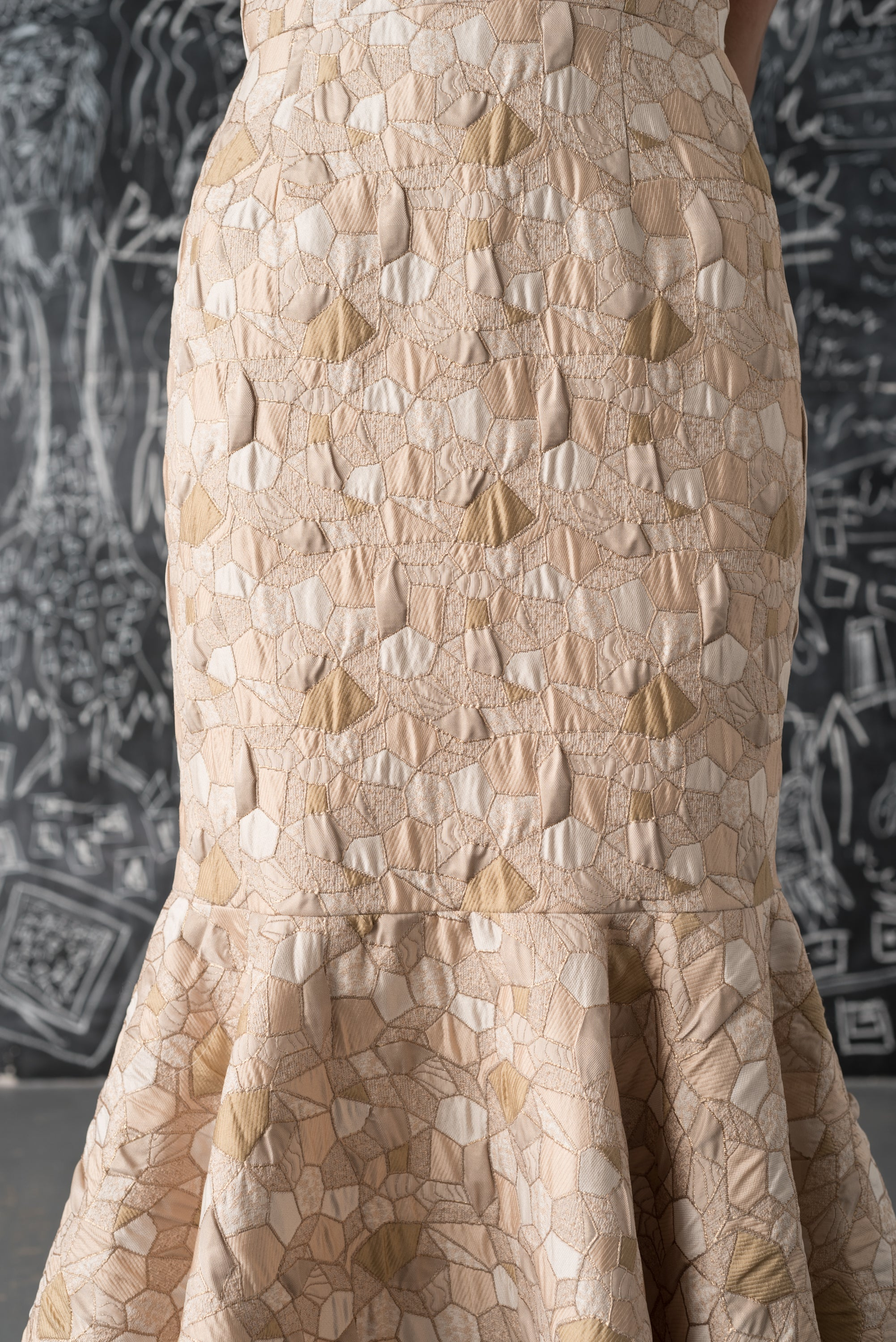 Ariel Mosaic Brocade Dress
