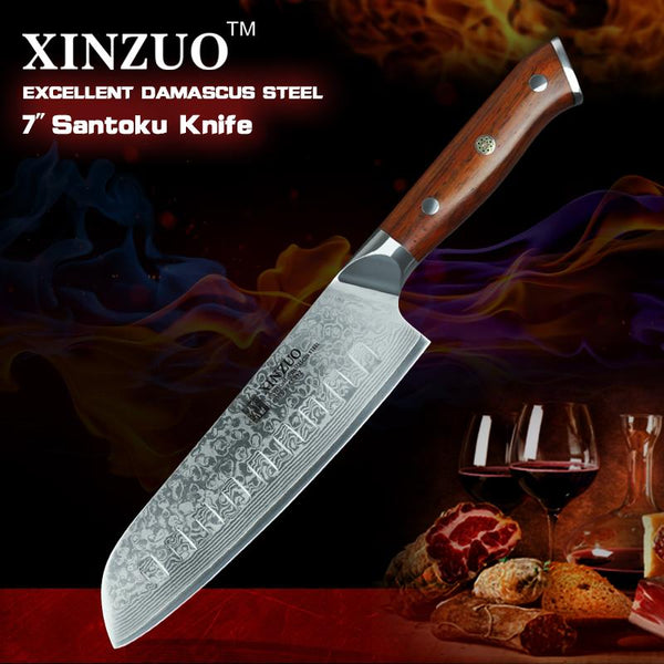 "7"" Santoku Chef Knife - Yu Series"