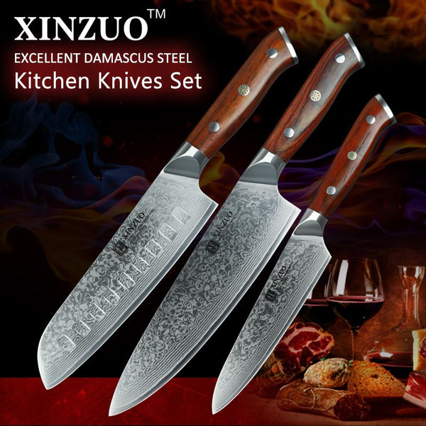 3 Pcs. Kitchen Knife Set - Yu Series - MyMidoShop