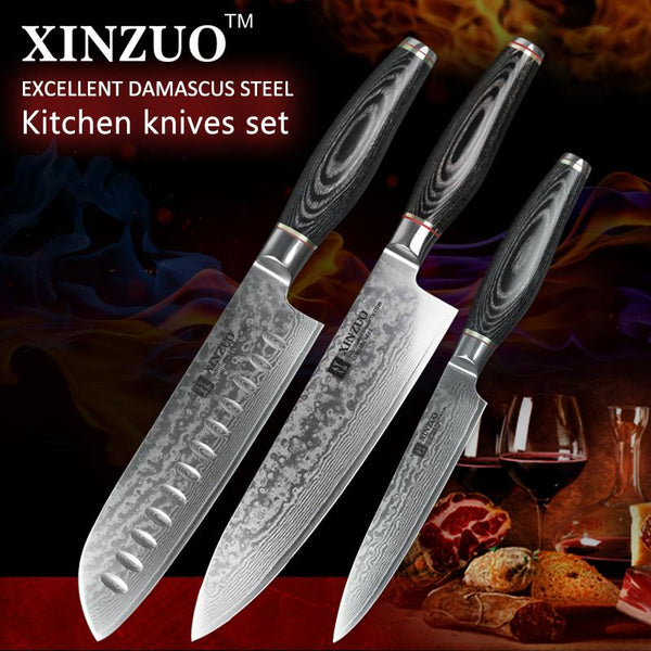 3 Pcs. Kitchen Knife Set - Li Series
