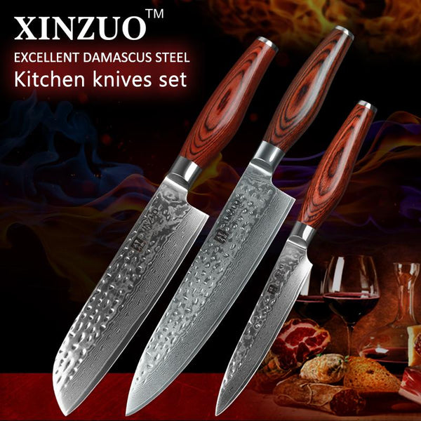3 Pcs. Kitchen Knife Set - Li-red Series - MyMidoShop