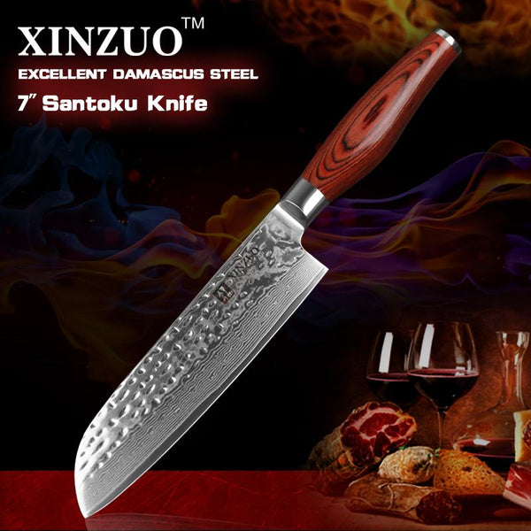 "7"" Santoku Chef Knife - Li-red Series - MyMidoShop"