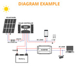 Dual USB Solar Regulator with LCD 10/20/30A