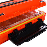 Dual Layer Waterproof Fishing Box - Fishing - Orange,White (out-of-stock),Green (out-of-stock),Grey (out-of-stock)