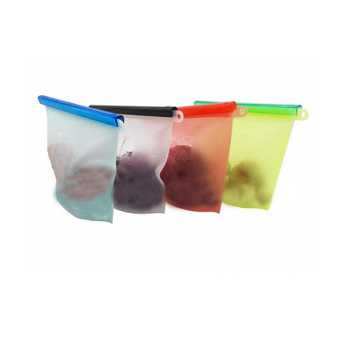 Reusable Silicone Bags - Eco - 4 bags,8 bags