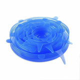 Reusable Silicone Lids - Eco - white (6 pack),blue (6 pack)