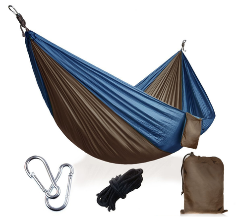 Ultralight Hammock for Camping - Hammock - Grey & Blue,Grey & Orange,Grey & Green