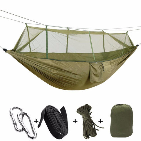 Ultralight Hammock with Mosquito Net - Hammock - Camouflage,Army Green,Orange and Grey,Grey and Blue