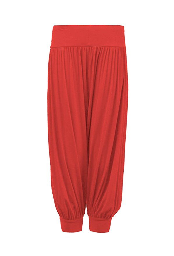 Girls Styling Plain Harem Trousers in Coral