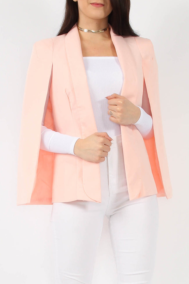 MILLIE CAPE BLAZER WITH COLLAR NUDE