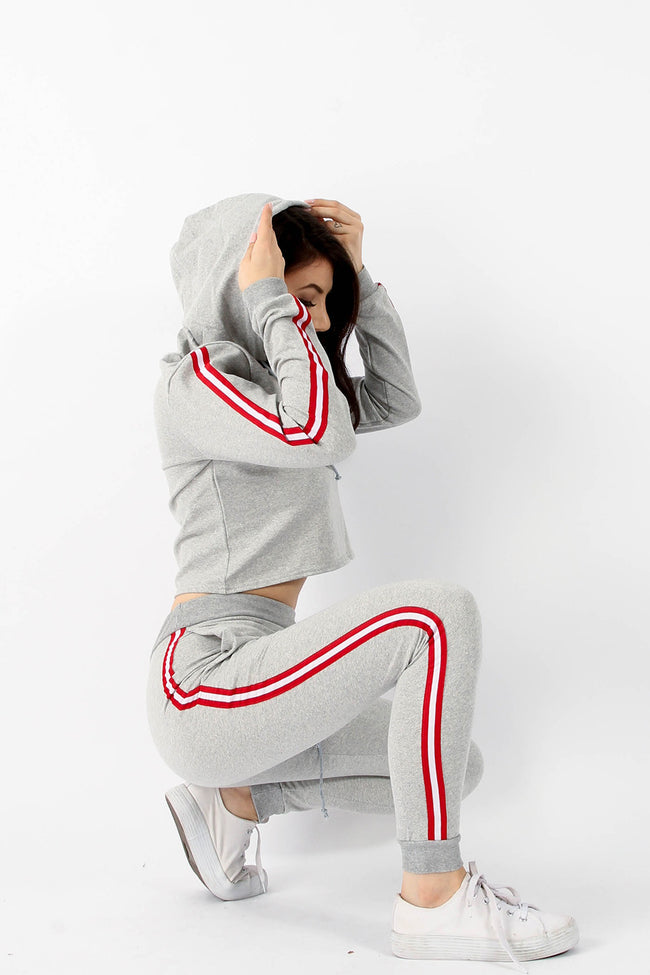 IVY STRIPE HOODIE & JOGGERS LOUNGE SUIT
