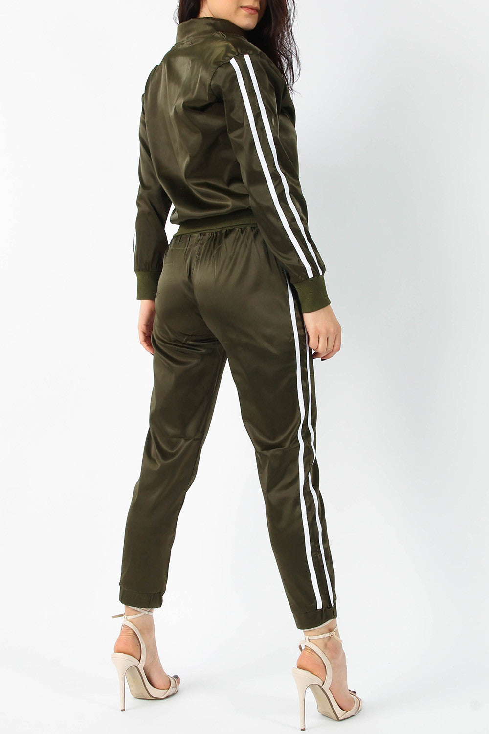 MILA SATIN JACKET & JOGGER LOUNGE SUIT