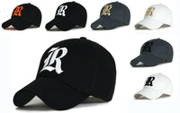 Baseball cap new cotton Mens  Women  hat letter R unisex Black hats casual hat