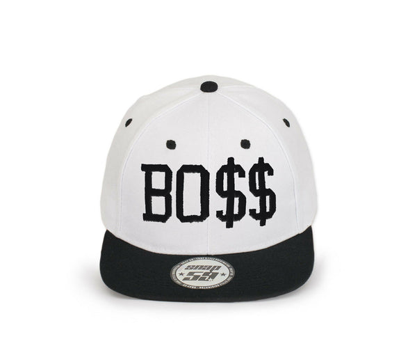NEW BASEBALL CAP HAT SNAPBACK BO$$ Caps EMBROIDERED in UK