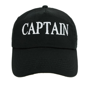 Baseball Cap Captain Yachting Cabin Boy Boys Mens Summer Hat Cotton Black