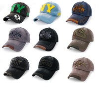 Casual BASEBALL CAP HAT SNAP BACK M Size Adjustable Strap Unisex Mens Women NY