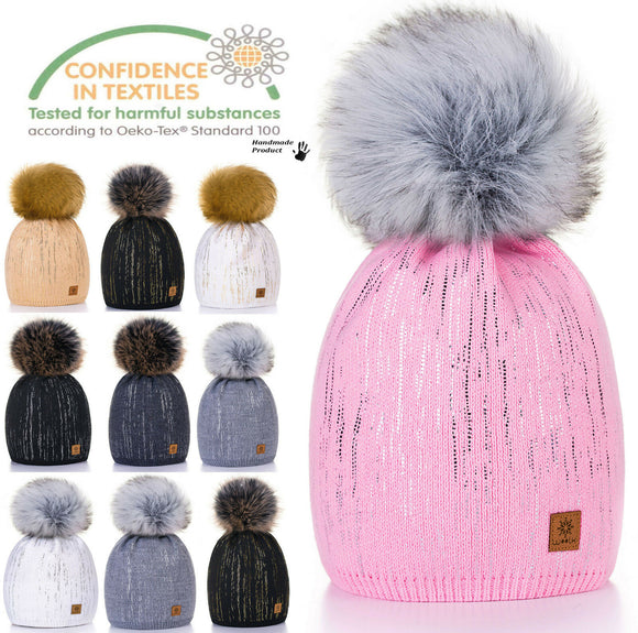 Unisex Kids Children Knitted Beanie Hat Hats Cap Winter Worm Girls Boys Bubble Z