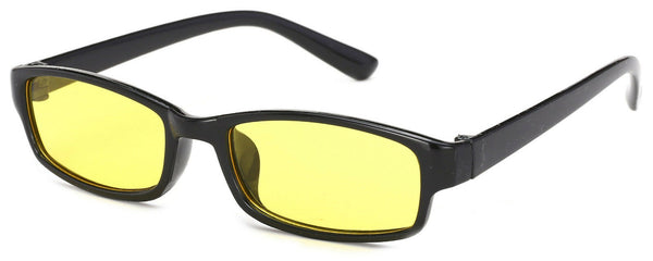 Slim Anti Glare Glasses Night Driving Yellow Lens Unisex case cloth Tortoise