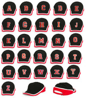 NEW BASEBALL CAP LETTER A-Z HAT SNAPBACK  Adjustable Strap Embroidered in UK LA