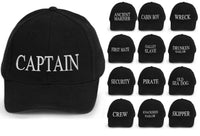 Captain Baseball Cap Embroidered Cotton Mens Women Various logos black white