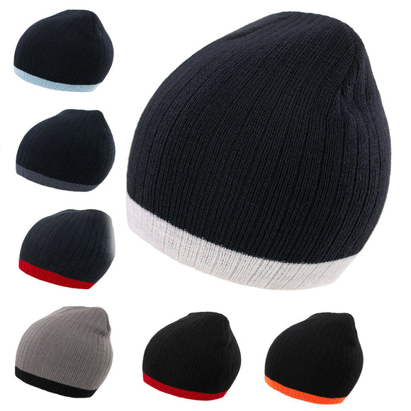 Mens Women Knitted Woolly Winter Oversized Slouch Beanie Skateboard Hat Cap M3