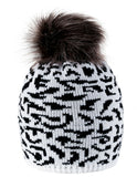 Womens Panther Hat Warm Bobble Hat Beanie Very Winter Pom Wooly Cap