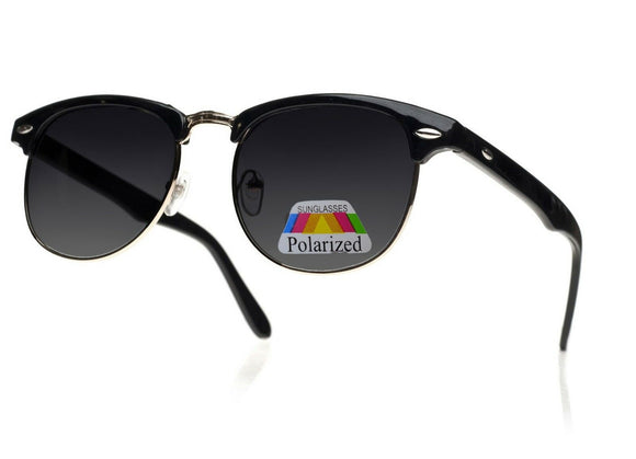 Men Women Ladies Sunglasses New Classic 1980's Full UV400 Black Gold Polarised