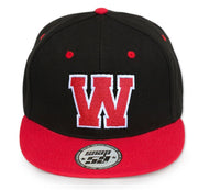Mens Classic Red Black B Adjustable Baseball Caps - WORK CASUAL SPORTS LEISURE