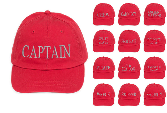 captain baseball embroidery cap cotton Mens Women Family inscription lettering