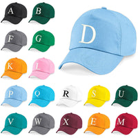 Kids Embroidery Baseball Cap Girls Boys Junior Children Hat Summer A Z Sky Blue