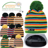 Men Women Winter Beanie Hat Knitted CRYSTAL Ladies Fashion Large Pom Pom Gifts T
