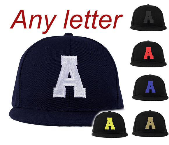 BASEBALL CAP LETTER A HAT SNAP BACK  Adjustable Strap Unisex Mens Women